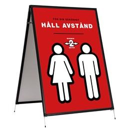 Golvställ A-Ställ 70x100 Svart Dubbelsidig