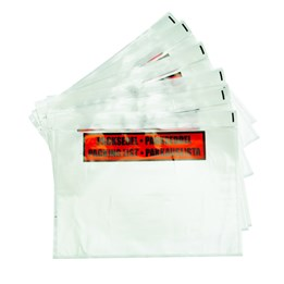 Packsedelskuvert C6 PP Med Med Tryck Transparent