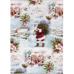 Julpapper 57cm White Christmas