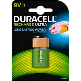 Batteri Duracell 9V Recharge HR9V