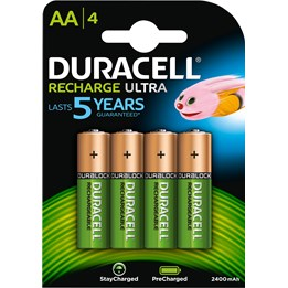 Batteri Duracell AA Recharge HR6 4st/fp