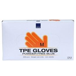 Handske TPE Puder- & Ftalatfri Blå M 200st/fp