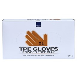 Handske TPE Puder- & Ftalatfri Blå XL 200st/fp