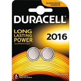 Batteri Duracell DL/CR2016 3V Lithium 2st/fp