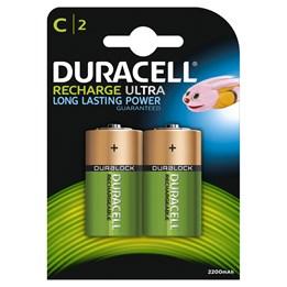 Batteri Duracell C Recharge HR14 2st/fp