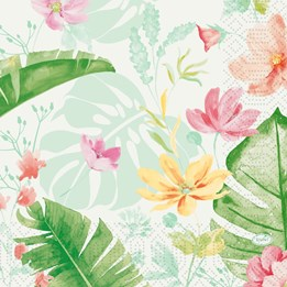 Servett 33cm 3-Lags Tropical Garden 50st/fp