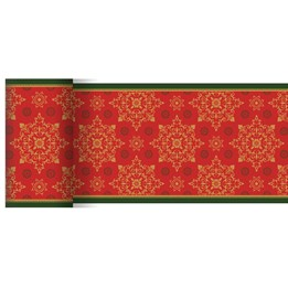 Löpare Dunicel 15cmx20m Xmas Deco Röd