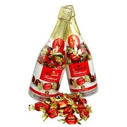 Julchoklad Tryffel i Festlig Flaska 350g
