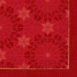 Servett 33cm 3-Lags All Stars Röd Duni 50st/fp