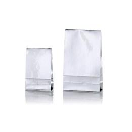 Presentpåse L 200x65x330mm Silver 100st/fp