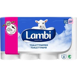 Toalettpapper Lambi Soft & Strong 3-Lager