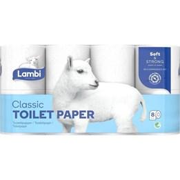 Toalettpapper Lambi Soft & Strong 3-Lager Dekorprägling 20m/rl  40rl/fp