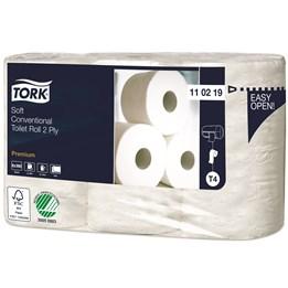 Toalettpapper Tork Premium Dekor T4 2-Lager 50m/rl  42rl/fp