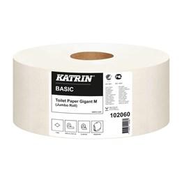 Toalettpapper Katrin Basic Gigant M Oblekt 1-Lager 435m/rl  6rl/fp