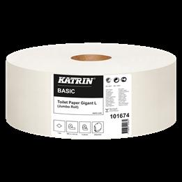 Toalettpapper Katrin Basic Gigant L Oblekt 1-Lager 585m/rl  6rl/fp
