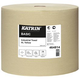Torkrulle Katrin Industri Basic XL 32cm x 1170m Gul 1-Lager