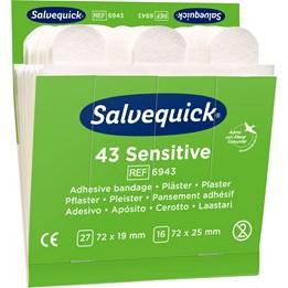 Plåster Salvequick Non-Woven Refill 6x43st/fp