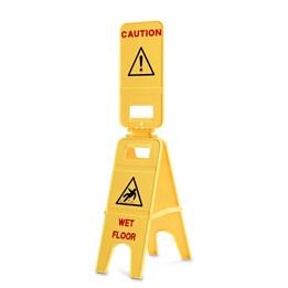 Varningsskylt Caution Wet Floor Gul