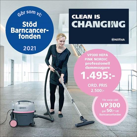 Dammsugare Nilfisk Pink VP300 Nordic Hepa-Filter