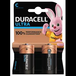 Batteri Duracell C Ultra LR14 1,5V 2st/fp
