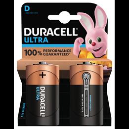 Batteri Duracell D Ultra LR20 1,5V 2st/fp