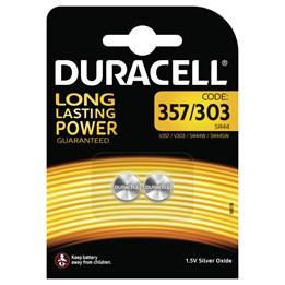 Batteri Duracell 357 303 LR/SR44 1,5V 2st/fp