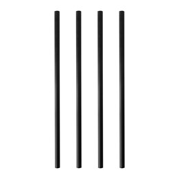Sugrör Papper 8mmx21cm Svart 100st/fp