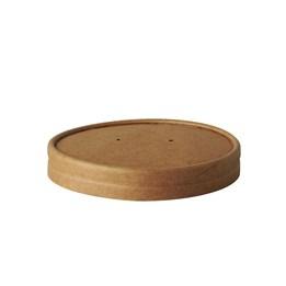 Lock till Soppskål Papper Pure Rund Ø9,8X1,6cm Brun 25st/fp 100% Fair