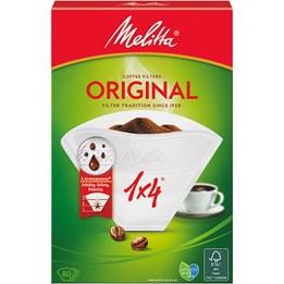 Kaffefilter 1X4 vit Melitta 80st/fp
