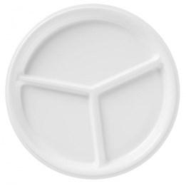 Plasttallrik 26cm Vit 3-Fack 50st/fp