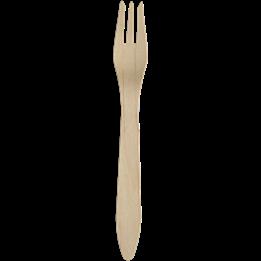 Träbestick Gaffel Premium 18,2cm 100st/fp