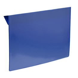 Pallkragsskylt För A4 Blå/transparent