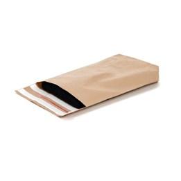 E-Handelspåse Papper Brun 380x480+80/90mm 90g 2 x Permanent Tejp & Perforering