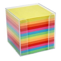 Block Kub/Hållare 9,5x9,5cm Mix Färger 700st/fp Hålat 700 Blad