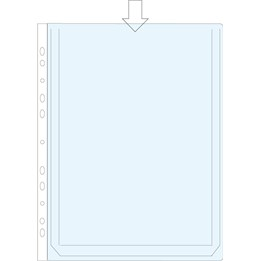 Bälgficka A4 0.18mm Transparent PP 25st/fp