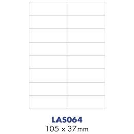 Etikett A4 105x37mm Vit 500ark/krt