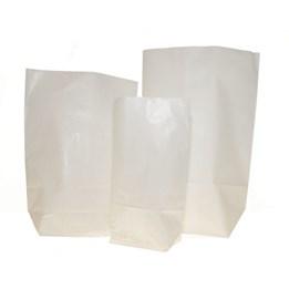 Papperspåse Kanister 1kg 190x245mm Vit