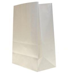 Papperspåse SOS Nr 3 80x110x280mm Vit 500st/fp