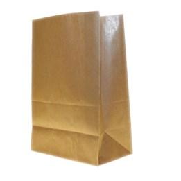 Papperspåse SOS Nr 4 250x105x280 Brun 500st/fp