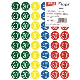Etikett Rund 24mm 20% - 50% 240st/fp