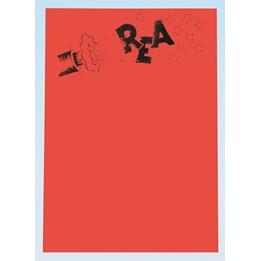 Textkartong A4 'Kanon + Rea' Fl.Röd 25st/fp