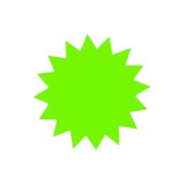 Textkartong Stjärna