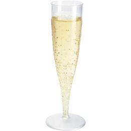 Plastglas 13,5cl Fot Champagne 10st/fp
