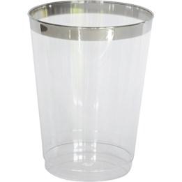 Plastglas 25cl Transparent/Silver 12st/fp