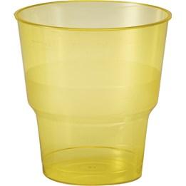 Plastglas 24cl Gul 50st/fp