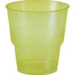 Plastglas 24cl Grön 50st/fp