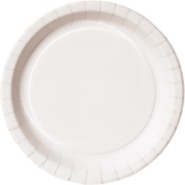 Papperstallrik 22cm Basic Vit 100st/fp