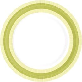 Papperstallrik 22cm Grön 50st/fp