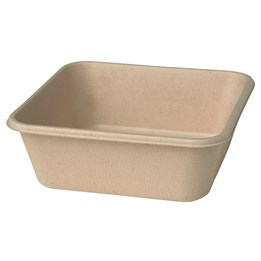 Box Bagasse 900ml 40st/fp Lock 40201026