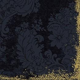 Servett 40cm Dunilin Royal Svart 50st/fp